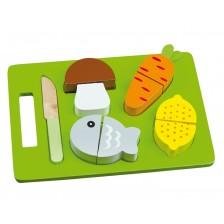 Дървен комплект за рязане Andreu Toys - Обяд -1