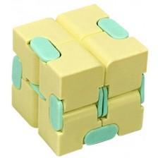 Антистрес играчка Poppit Fidget Infinity - Кубче, жълто -1