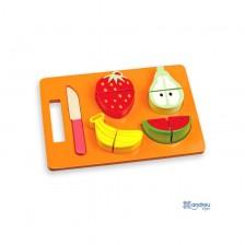 Дървен комплект за рязане Andreu Toys - Плодове -1