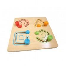 Дървена играчка Andreu Toys - За трениране движенията на ръката -1