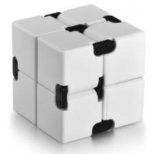 Антистрес играчка Poppit Fidget Infinity - Кубче, бяло -1