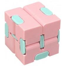 Антистрес играчка Poppit Fidget Infinity - Кубче, розово -1