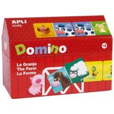 Домино в къщичка APLI Kids - Ферма, 28 части -1
