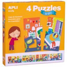Асоциативна игра-пъзел APLI - В къщи -1