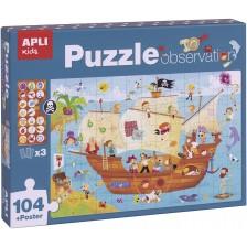 Асоциативна игра Аpli - Пъзел Пиратски кораб, 104 части -1
