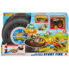 Комплект Hot Wheels Monster Trucks - Автомобилна гума за каскади -1