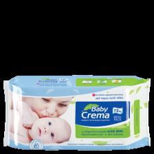 Мокри кърпички Baby Crema - Алое вера, 72 броя -1