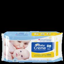 Мокри кърпички Baby Crema - Лайка, 72 броя -1