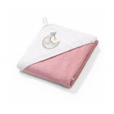 Хавлия за баня Babyono Terry - Луна, 100 х 100 cm, бяло и розово 142/10 -1