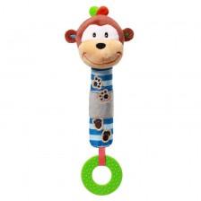 Писукаща играчка с гризалка Babyono - Маймунка -1