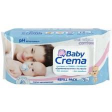 Мокри кърпички Baby Crema - 72 броя -1