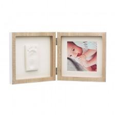 Бебешки отпечатък Baby Art - My Baby Style, със снимка (цвят дърво и бяло паспарту)