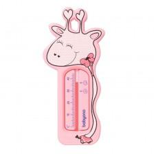 Термометър за баня Babyono - Жираф, розов -1