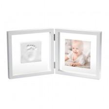 Бебешки отпечатък Baby Art - My Baby Style, със снимка (бяла рамка и прозрачно паспарту)  -1