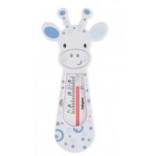Термометър за баня Babyono - Бял жираф и сини кръгчета -1