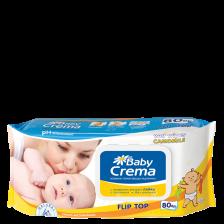 Мокри кърпички Baby Crema - Лайка, 80 броя -1