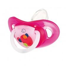 Силиконова залъгалка в кутия Bebe Confort - Premium Dental Safe 12м+, розова -1