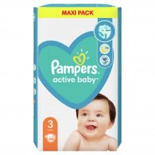 Бебешки пелени Pampers - Active Baby 3, 66 броя  -1