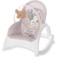 Бебешки шезлонг Lorelli - Enjoy, Beige Daisy -1