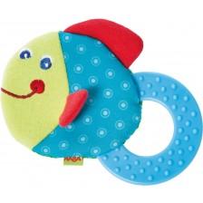 Бебешка текстилна гризалка Haba, Риба -1