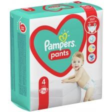 Бебешки пелени гащи Pampers 4, 25 броя  -1