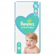 Бебешки пелени Pampers - Active Baby 5, 60 броя  -1
