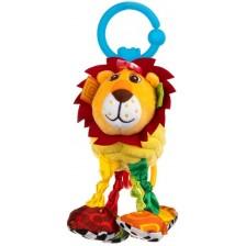 Бебешка висяща играчка с вибрация Bali Bazoo - Лъвче -1
