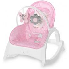 Бебешки шезлонг Lorelli - Enjoy, Pink Hug -1