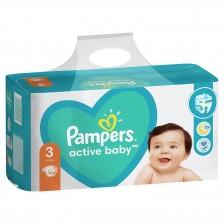 Бебешки пелени Pampers - Active Baby 3, 104 броя  -1