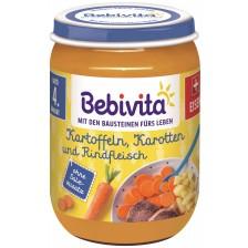 Ястие Bebivita - Картофи, моркови и телешко месо, 190 g -1