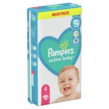 Бебешки пелени Pampers - Active Baby 4, 58 броя