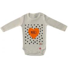 Бебешко боди Rach - Merci, 86 cm, оранжево -1