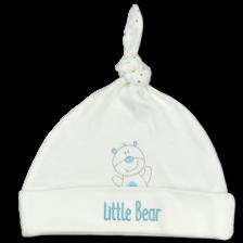 Бебешка шапка с възел For Babies - Мече, 3-6 месеца -1