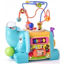 Бебешки дидактически активен куб Niny - Слонче -1