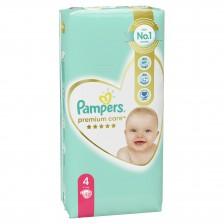 Бебешки пелени Pampers - Premium Care 4, 52 броя