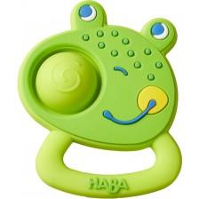 Бебешка силиконова гризалка Haba - Жаба -1
