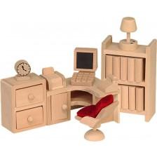 Комплект мини мебели от дърво Beluga - Кабинет -1