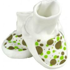 Бебешки обувки For Babies - Зелени точки, 0+ месеца -1