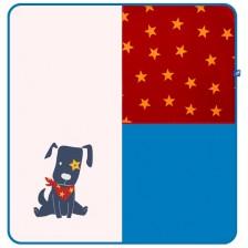 Бебешка пелена Rach - Doggy, 85 х 85 cm, синя -1