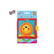 Бебешка играчка Galt - Мека книжка с дръжка, джунгла -1