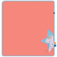 Бебешка пелена Rach - Be unique, 85 х 85 cm, розова -1
