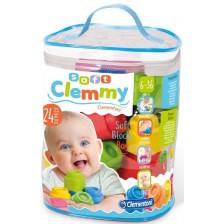 Бебешки конструктор Clementoni Soft - Clemmy, 24 части -1