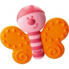 Бебешка силиконова гризалка Haba - Пеперуда -1