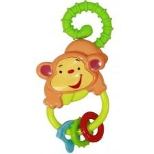 Бебешка дрънкалка Lorelli Baby Care - Маймунка, Асортимент -1