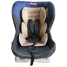 Детско столче за кола Bebino - Deluxe, синьо и бежово, до 18 kg -1