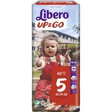 Бебешки пелени гащи Libero Up&Go – Jumbo 5, 40 броя