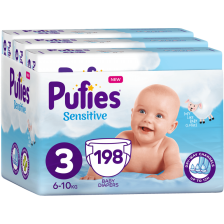 Бебешки пелени Pufies Sensitive 3, 198 броя -1