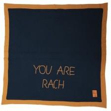 Бебешка пелена Rach - By Rach, 85 х 85 cm, тъмносиня -1