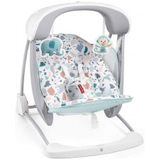 Бебешки шезлонг 2 в 1 Fisher Price - Тропическа гора -1