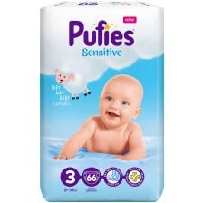 Бебешки пелени Pufies Sensitive 3, 66 броя -1